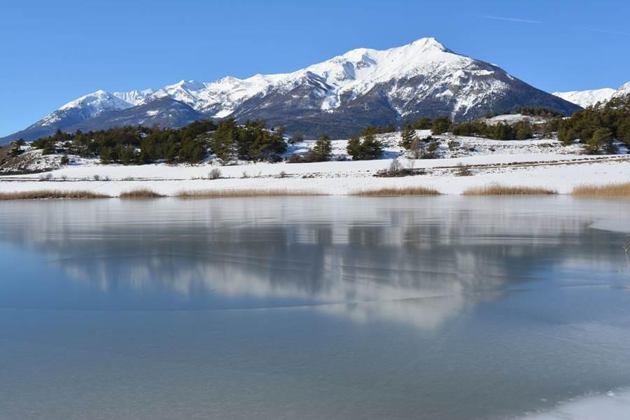 Lac Siguret en hiver