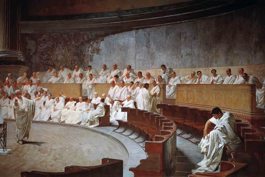 Fresque de Cesare Maccari (Palais Madame de Rome)