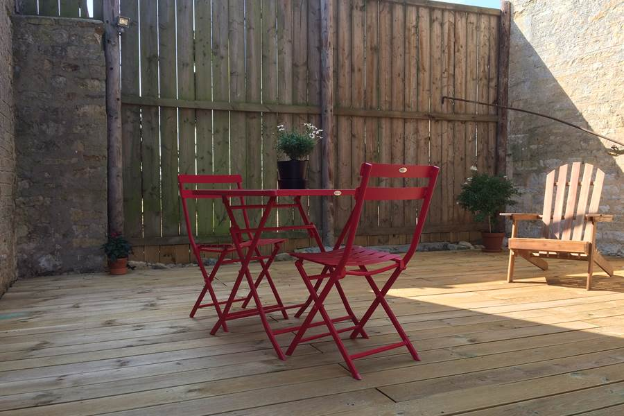 Terrasse en bois 30m² privative