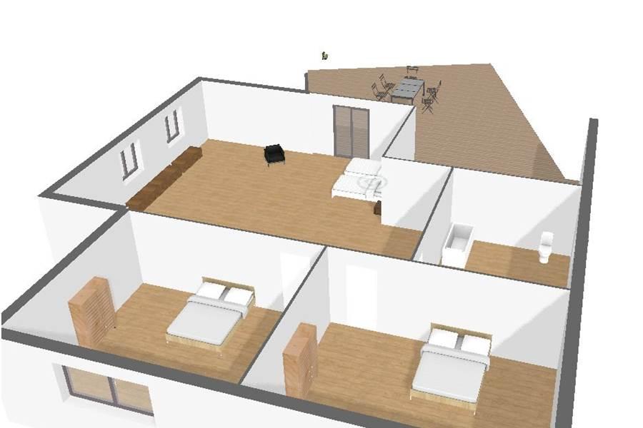 Plan 3D 2 ème étage