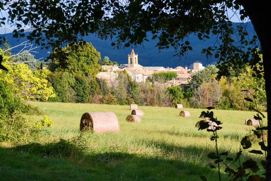 Le village de Cruis vu depuis la bastide