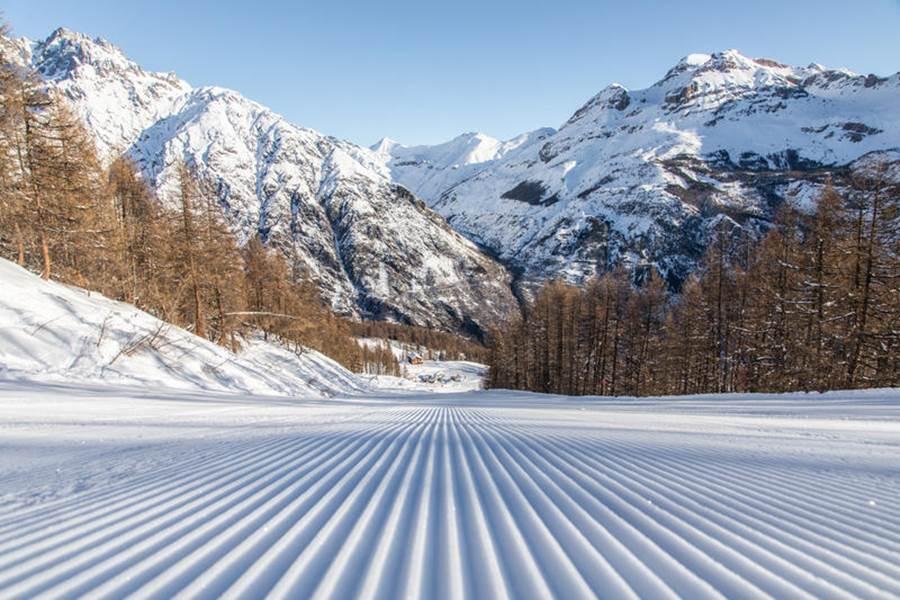 Ski piste de Pelvoux