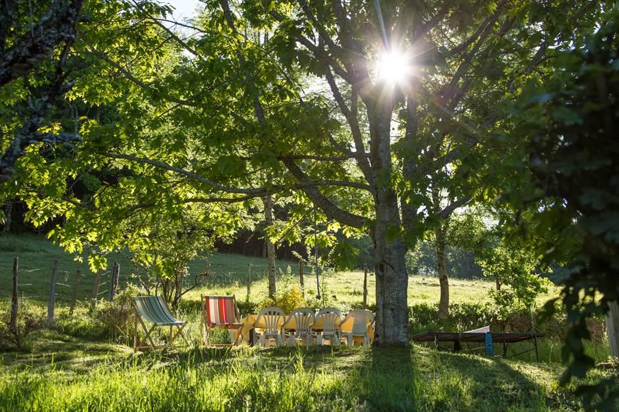Le jardin de Casastelle au soleil du matin