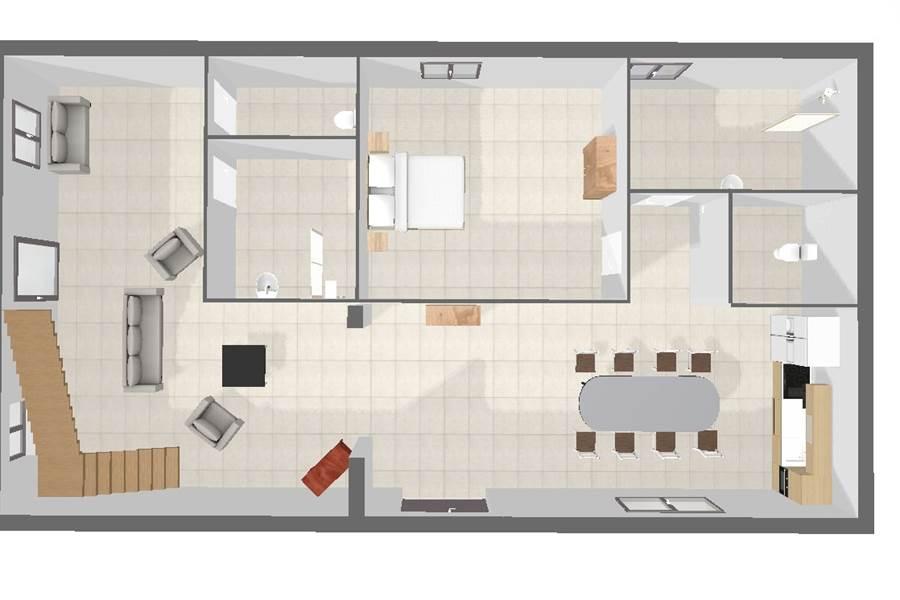 Plan 3D Rez de chaussée