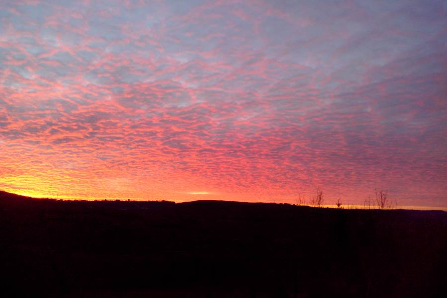 Villa Ric, coucher du soleil sur la vallée de la Dordogne