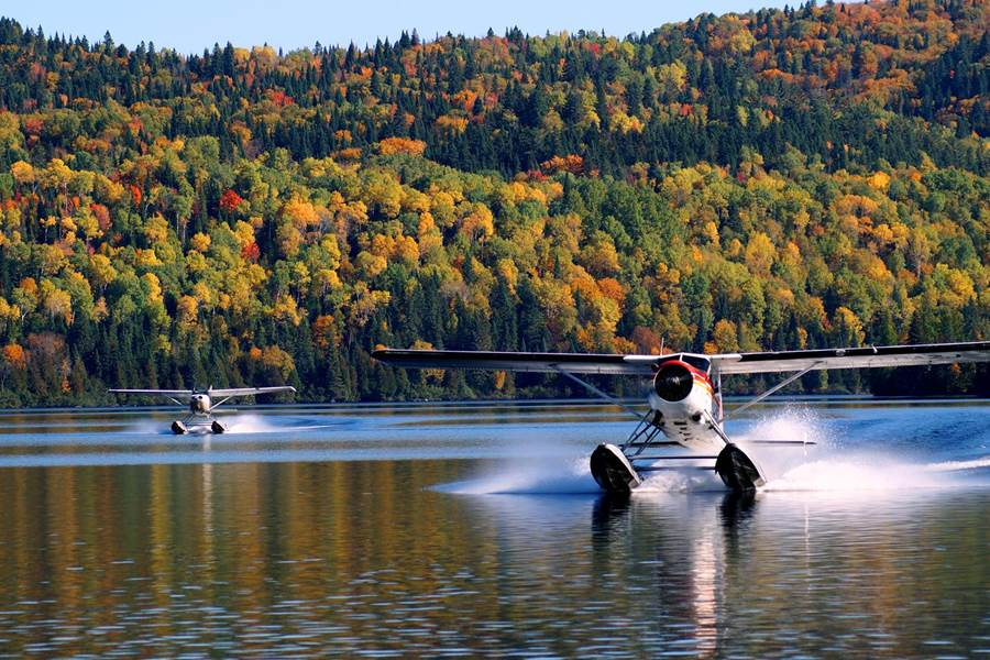 Domaine le Bostonnais, hydravion chez Aviation la Tuque, en Mauricie, Canada