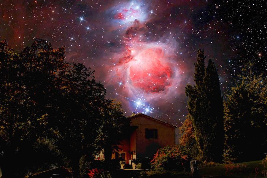 Astronomie  Orion pris depuis la Bastide du Claus
