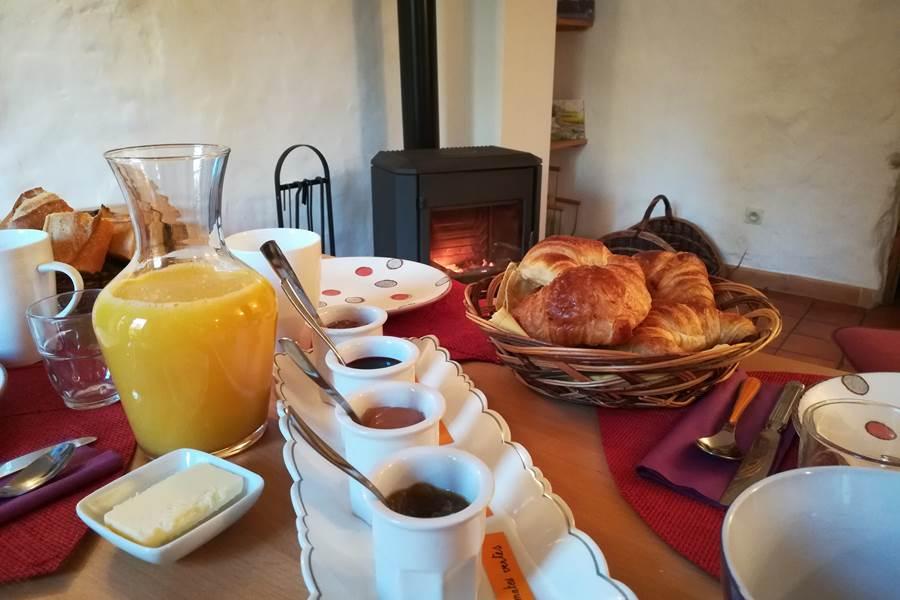 Votre petit déjeuner en chambre d'hôtes