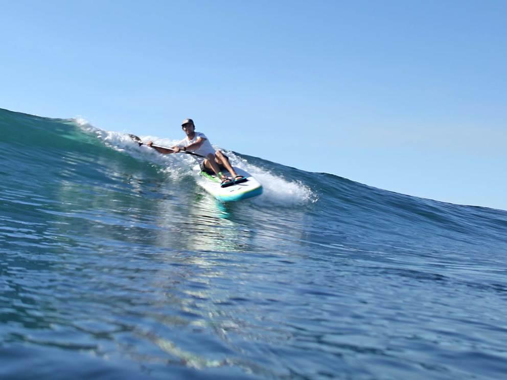 Matthieu 6 X champion du monde de wave ski