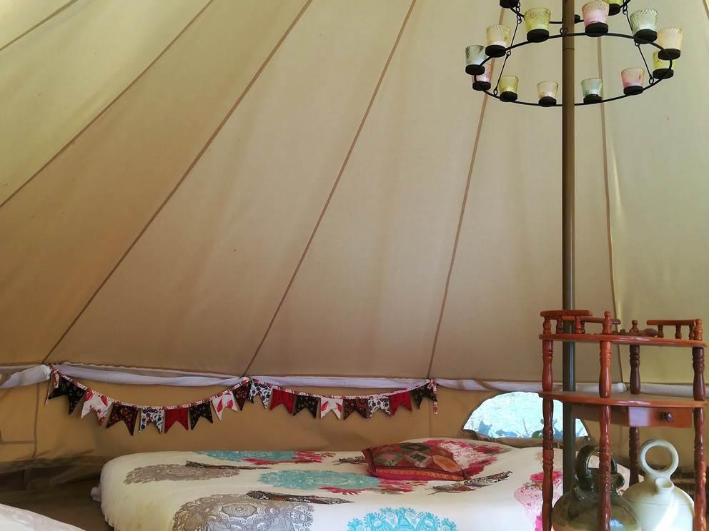 Intérieur de la tente Inuit