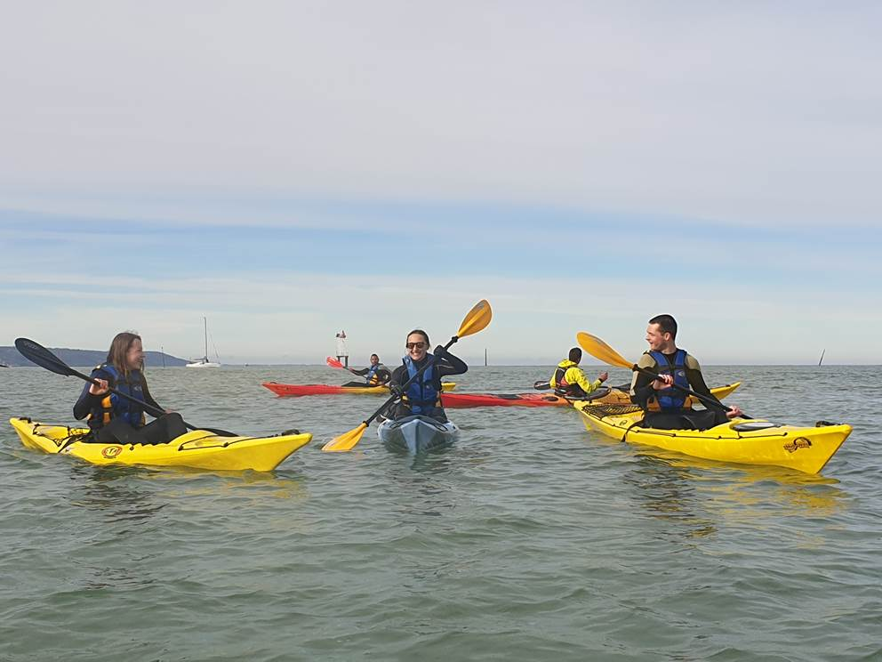 Concept sport Émotion _ Kayak Fitness
