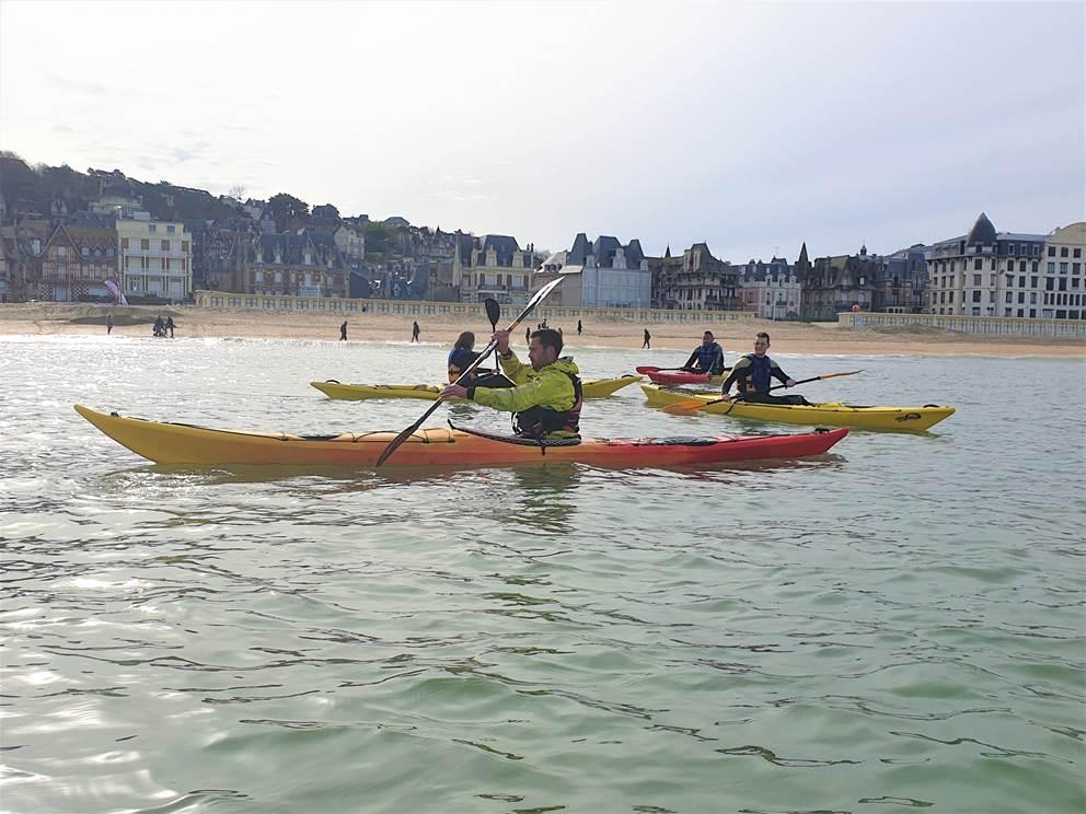 derrière les kayak Trouville Sur Mer