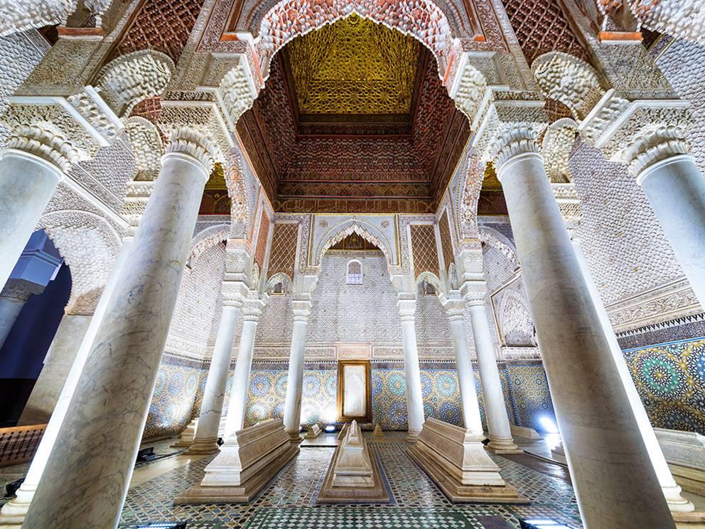 Tombeaux Saadiens, chambre avec les 12 colonnes.