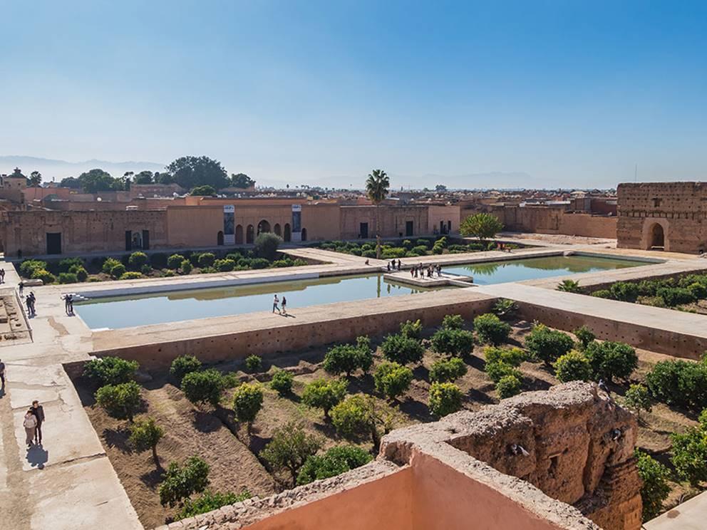 Palais el Badi, vue sur les bassins