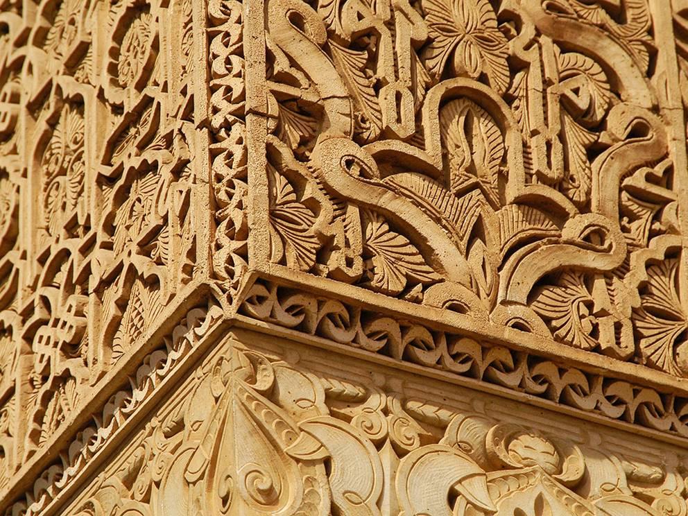 Tombeaux Saadiens, colone décorée