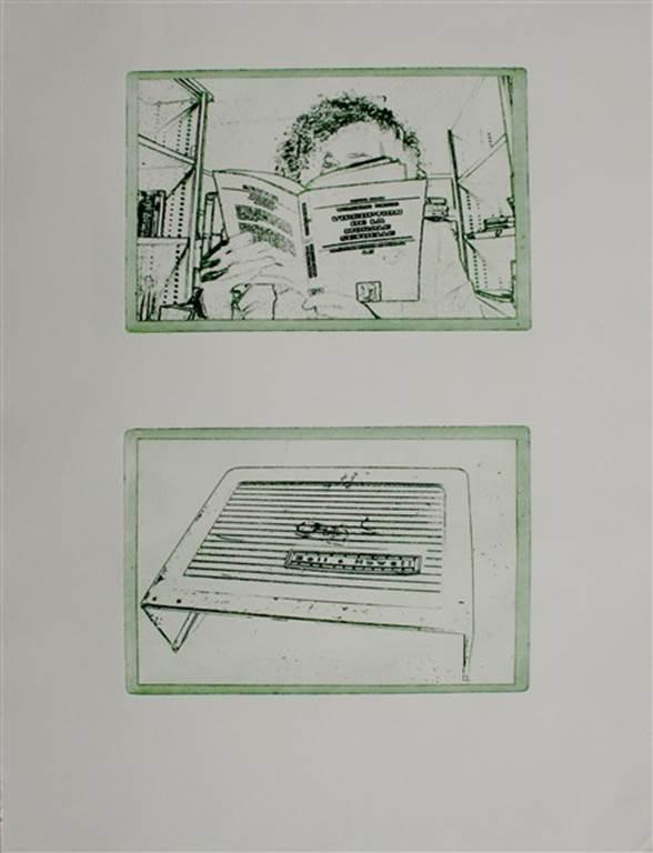 Alain Bizeau: Le composant monté en  Portfolio de 11 gravures.