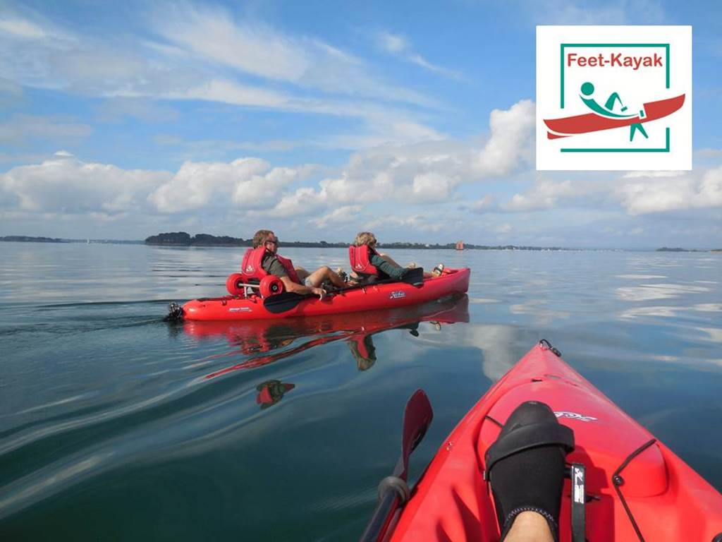 Feet-kayak-mer-sarzeau-morbihan-bretagne sud