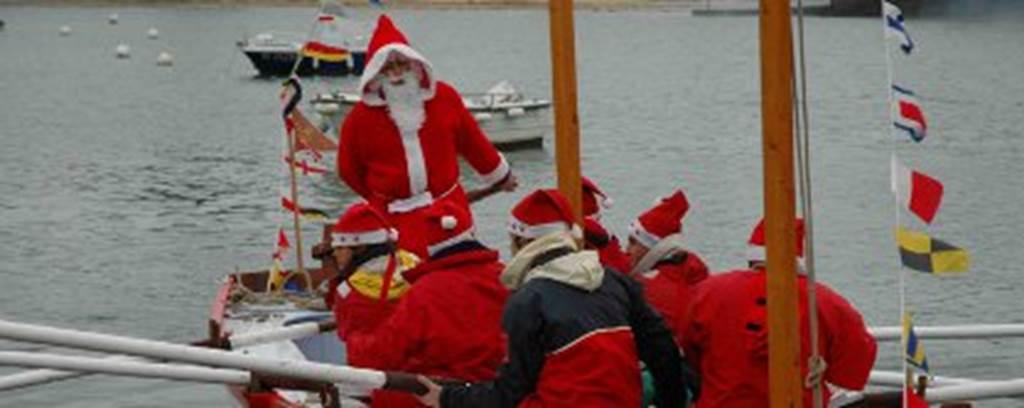 Arrivée-Père-Noel-arzon-morbihan-bretagne sud